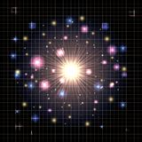 分子结构化学制品宇宙 皇族释放例证