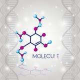 分子结构化学制品象 库存例证