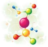 分子结构树 库存图片