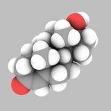 分子结构睾甾酮 库存例证