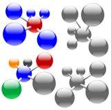 分子网络节点 免版税库存照片