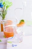 分子芒果红萝卜鱼子酱烹调 免版税图库摄影
