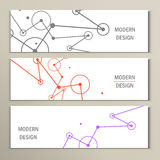分子设计模板横幅 能为工作流布局,图,数字选择,网络设计使用 图库摄影