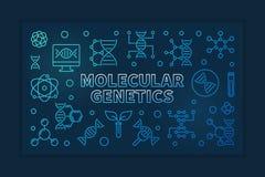 分子遗传学导航蓝色线性水平的例证 库存例证