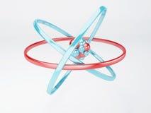 分子,在白色背景的原子 图库摄影