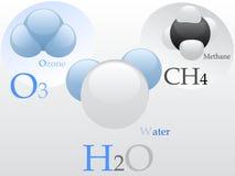 分子 向量例证