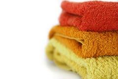 分层堆积毛巾 库存图片