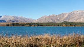 分层堆积特卡波湖 库存照片