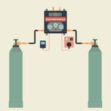分布式系统气体 库存照片