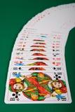 分布的卡片组使用 免版税图库摄影