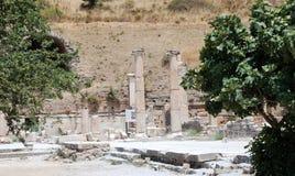 分开在Ephesus,伊兹密尔,土耳其的现场 免版税图库摄影