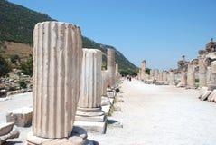 分开在Ephesus,伊兹密尔,土耳其的现场 免版税库存照片