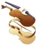 分开小提琴 库存照片