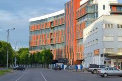 分开旅馆水晶议院是只那个在加里宁格勒 位于街道Sergeeva在老德国旅馆旁边,公园ho 库存图片