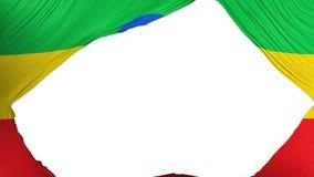 分开的埃塞俄比亚旗子 向量例证