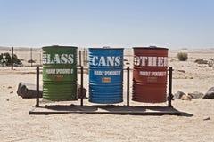 分开的废弃物收集 免版税库存照片