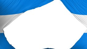 分开的洪都拉斯旗子 库存例证