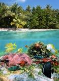 分开的视图在一个热带天堂 库存照片