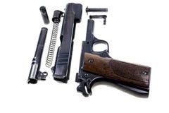 分开的零件手枪 免版税库存图片