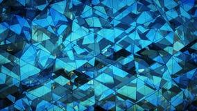 分成三角形的多角形未来派玻璃表面摘要3D烈 库存例证