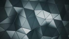 分成三角形的多角形表面3D回报 库存例证