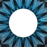 分成三角形的蓝色雪花圈子框架墙纸 图库摄影