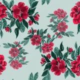 分支与山茶花分支花和叶子在watercolo的 库存图片