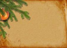 分支圣诞节lpaper老减速火箭的结构树 免版税库存图片