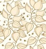 分支无缝的纹理。装饰轻的现代花卉背景。与叶子的样式 库存照片