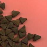 分散的猫饼干 免版税库存照片