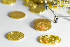 分散的硬币 权利 库存照片