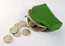 分散的硬币 图库摄影