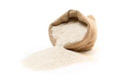 分散的米大袋 库存图片