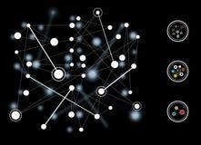 分散的网络系统的例证 免版税库存照片