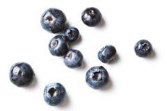 分散的蓝莓 免版税库存图片