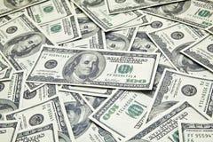 分散的100美国美元 免版税图库摄影