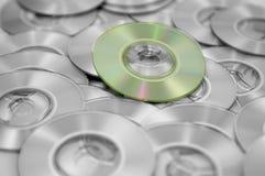 分散的cds 免版税库存图片