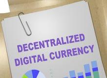 分散的DIGITAL货币概念 库存例证