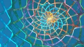 分数维与抽象形状的圈背景 高详细的圈 股票录像