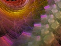 分数维抽象数字式装饰亮光未来派艺术性 免版税库存照片