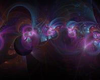 分数维抽象颜色意想不到的背景神奇紫色 免版税库存照片