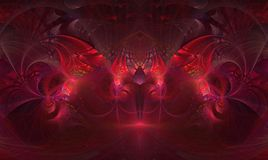 分数维抽象颜色意想不到的背景神奇红色 库存照片