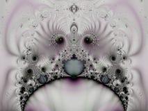 分数维模式奇怪的漩涡 皇族释放例证