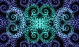 分数维漩涡 向量例证