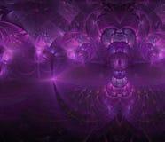 分数维紫色抽象颜色意想不到的背景神奇模板 图库摄影