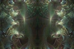 分数维绿色抽象颜色意想不到的背景神奇模板 免版税库存照片