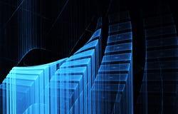 分数维艺术-计算机图象,技术背景 免版税图库摄影