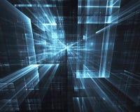 分数维艺术-计算机图象,技术背景 免版税库存图片