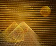 分数维金字塔 皇族释放例证