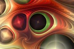 分数维颜色抽象构成 免版税库存照片